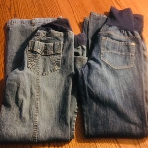Two pair Maternity Jeans sz Small and sz 2 B31/12